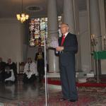 Przemawia prezes EUTW odznaczony Zasłużony dla tolerancji