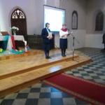 Przewodnicząca PKK ŚDM Pani Joanna Kamińska i Gospodarz spotkania modlitewnego Pani Hanna Tranda